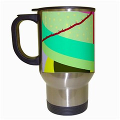 Colorful Abstraction By Moma Travel Mugs (white) by Valentinaart