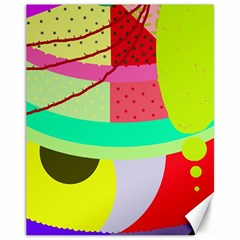 Colorful Abstraction By Moma Canvas 11  X 14   by Valentinaart