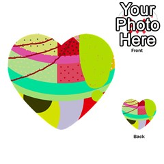 Colorful Abstraction By Moma Multi Purpose Cards (heart)  by Valentinaart
