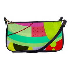 Colorful Abstraction By Moma Shoulder Clutch Bags by Valentinaart