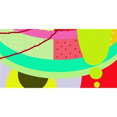 Colorful Abstraction By Moma You Are Invited 3d Greeting Card (8x4) by Valentinaart