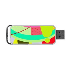 Colorful Abstraction By Moma Portable Usb Flash (two Sides) by Valentinaart