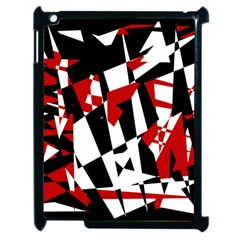 Red, Black And White Chaos Apple Ipad 2 Case (black) by Valentinaart