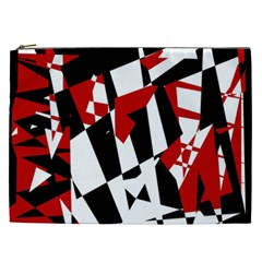 Red, Black And White Chaos Cosmetic Bag (xxl)  by Valentinaart