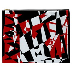 Red, Black And White Chaos Cosmetic Bag (xxxl)  by Valentinaart