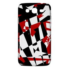 Red, Black And White Chaos Samsung Galaxy Mega 5 8 I9152 Hardshell Case  by Valentinaart