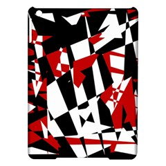 Red, Black And White Chaos Ipad Air Hardshell Cases by Valentinaart