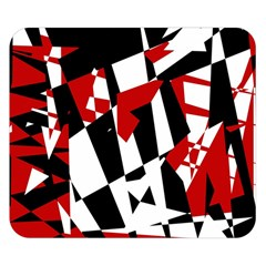 Red, Black And White Chaos Double Sided Flano Blanket (small)  by Valentinaart
