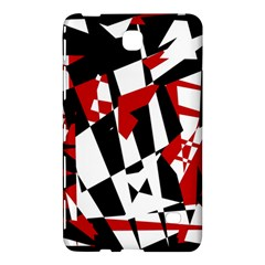 Red, black and white chaos Samsung Galaxy Tab 4 (7 ) Hardshell Case