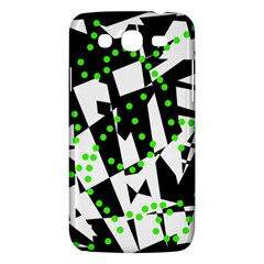 Black, White And Green Chaos Samsung Galaxy Mega 5 8 I9152 Hardshell Case  by Valentinaart
