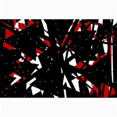 Black, Red And White Chaos Collage Prints by Valentinaart