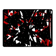 Black, Red And White Chaos Double Sided Fleece Blanket (small)  by Valentinaart