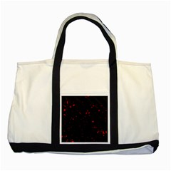 Black And Red Two Tone Tote Bag by Valentinaart
