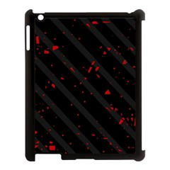 Black And Red Apple Ipad 3/4 Case (black) by Valentinaart