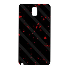Black And Red Samsung Galaxy Note 3 N9005 Hardshell Back Case by Valentinaart