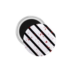 Elegant Black, Red And White Lines 1 75  Magnets by Valentinaart