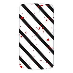 Elegant Black, Red And White Lines Samsung Galaxy Mega I9200 Hardshell Back Case by Valentinaart