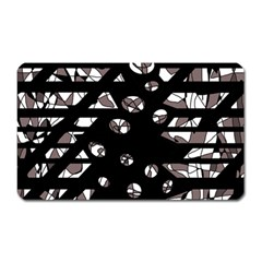 Gray Abstract Design Magnet (rectangular) by Valentinaart