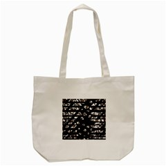 Gray Abstract Design Tote Bag (cream) by Valentinaart