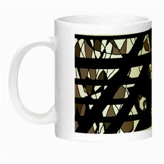 Gray Abstract Design Night Luminous Mugs by Valentinaart
