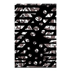 Gray Abstract Design Shower Curtain 48  X 72  (small)  by Valentinaart
