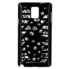 Gray Abstract Design Samsung Galaxy Note 4 Case (black) by Valentinaart