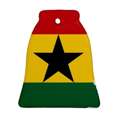 Flag Map of Ghana Bell Ornament (2 Sides) by abbeyz71