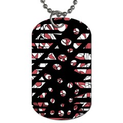Red Freedam Dog Tag (two Sides) by Valentinaart