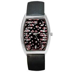 Red Freedam Barrel Style Metal Watch by Valentinaart