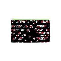 Red Freedam Cosmetic Bag (xs) by Valentinaart