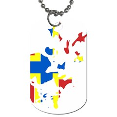 Flag Map Of Orkney Islands  Dog Tag (one Side) by abbeyz71