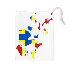 Flag Map of Orkney Islands  Drawstring Pouches (Large)  by abbeyz71