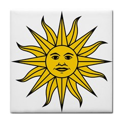 Uruguay Sun Of May Tile Coasters