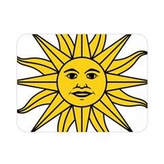Uruguay Sun Of May Double Sided Flano Blanket (mini)  by abbeyz71
