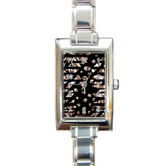 Brown Freedom  Rectangle Italian Charm Watch by Valentinaart