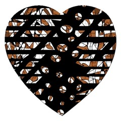 Brown Freedom  Jigsaw Puzzle (heart) by Valentinaart