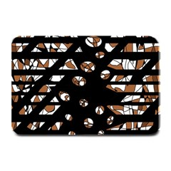Brown Freedom  Plate Mats by Valentinaart