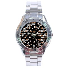 Brown Freedom  Stainless Steel Analogue Watch by Valentinaart