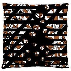 Brown Freedom  Large Cushion Case (one Side) by Valentinaart