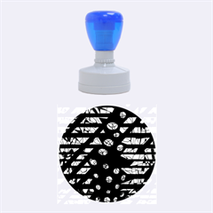 Blue Freedom Rubber Round Stamps (medium) by Valentinaart