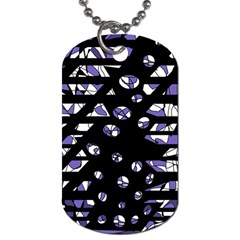 Purple Freedom Dog Tag (two Sides) by Valentinaart