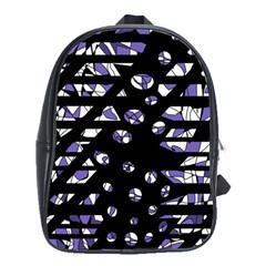 Purple Freedom School Bags(large)  by Valentinaart
