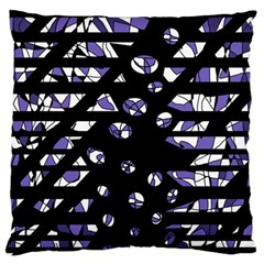 Purple Freedom Large Flano Cushion Case (two Sides) by Valentinaart
