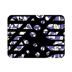 Purple Freedom Double Sided Flano Blanket (mini)  by Valentinaart