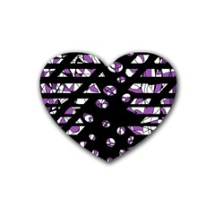 Violet Freedom Heart Coaster (4 Pack)  by Valentinaart