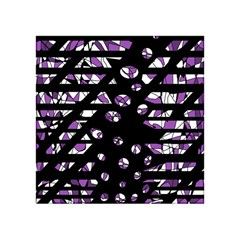 Violet Freedom Acrylic Tangram Puzzle (4  X 4 ) by Valentinaart