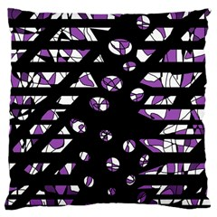 Violet freedom Large Cushion Case (Two Sides) by Valentinaart