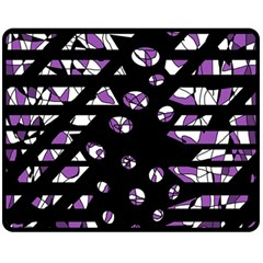 Violet Freedom Double Sided Fleece Blanket (medium)  by Valentinaart