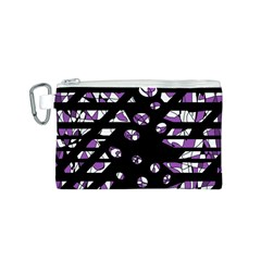 Violet Freedom Canvas Cosmetic Bag (s) by Valentinaart
