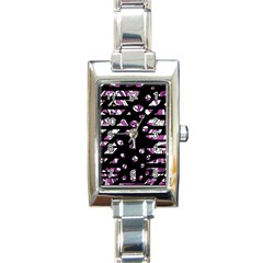 Magenta Freedom Rectangle Italian Charm Watch by Valentinaart